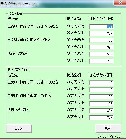 手数料 振込 三菱 ufj